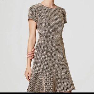 LOFT Jacquard Tile Dress
